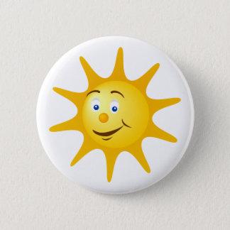 Smile sun 6 cm round badge