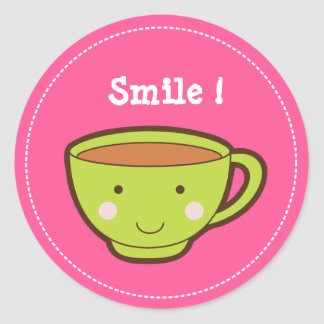 Smile ! Tea Cup Stickers