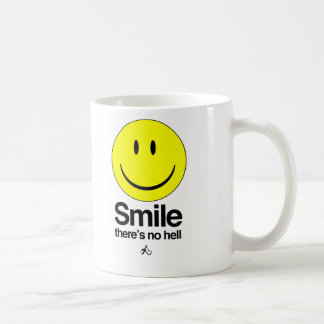Smile there's no hell basic white mug