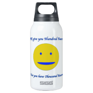 Smile to life insulated water bottle