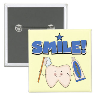SMILE - Tooth T-shirts and Gifts 15 Cm Square Badge