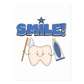 SMILE - Tooth T-shirts and Gifts Postcard