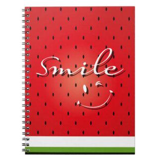 Smile Watermelon Spiral Notebooks