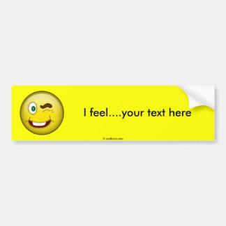 Smile Wink Bumper Stickers