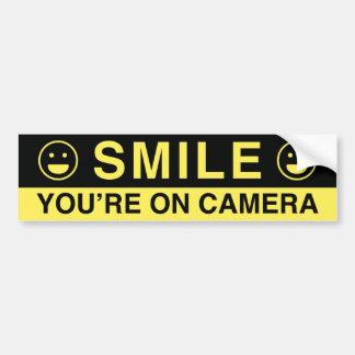 Smile You're On Camera Bumper Sticker
