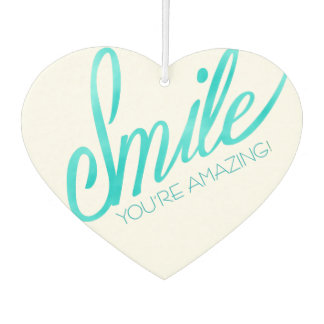 Smile You're Amazing Car Air Freshener