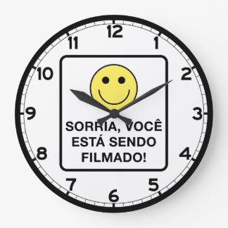 Smile! You're Being Filmed Sign, Brazil Wall Clocks