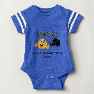 Smile! You're probably on a camera Baby Bodysuit
