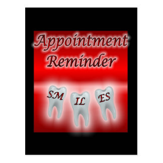 Smiles Appointment Reminder Postcard