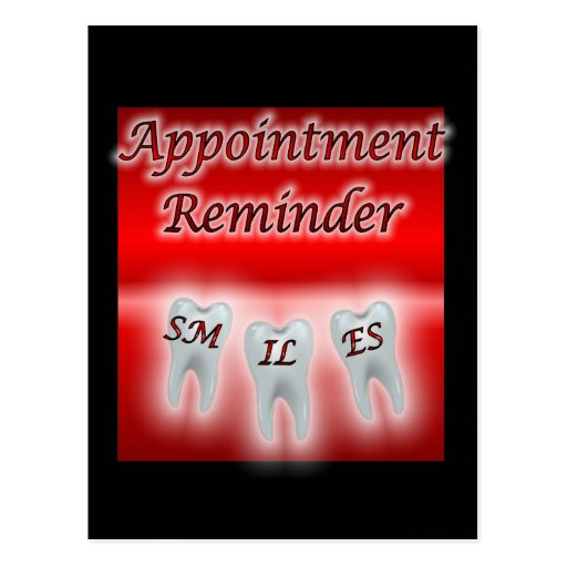 Smiles Appointment Reminder Post Card