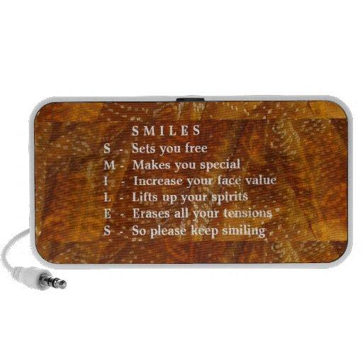 Smiles are Contagious Mini Speakers