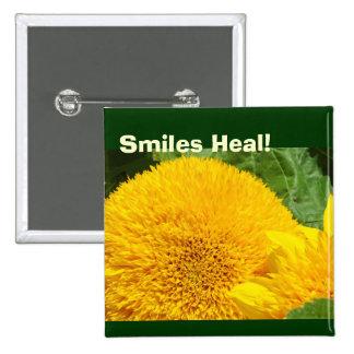 Smiles Heal buttons Yellow Sunflowers Garden
