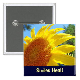 Smiles Heal buttons Yellow Sunflowers Healing