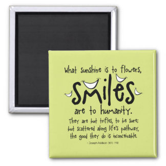 Smiles - Inspirational Quote Magnet