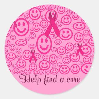 Smiles that help_ round sticker