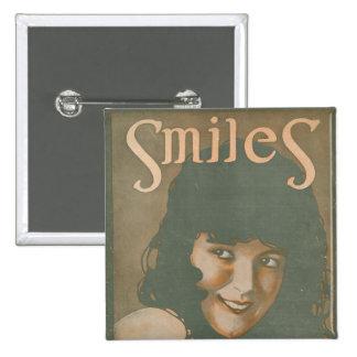 Smiles Vintage Music Button
