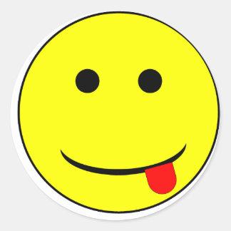 smiley 2 round stickers