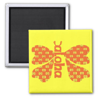 Smiley Aloha Butterfly magnet