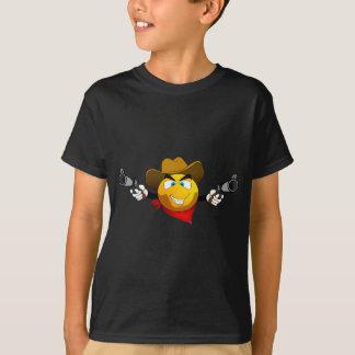 Smiley american dangerous bandit with guns T-Shirt