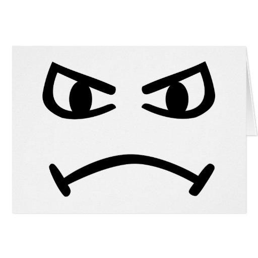 Smiley angry card