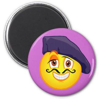 Smiley Artist 6 Cm Round Magnet