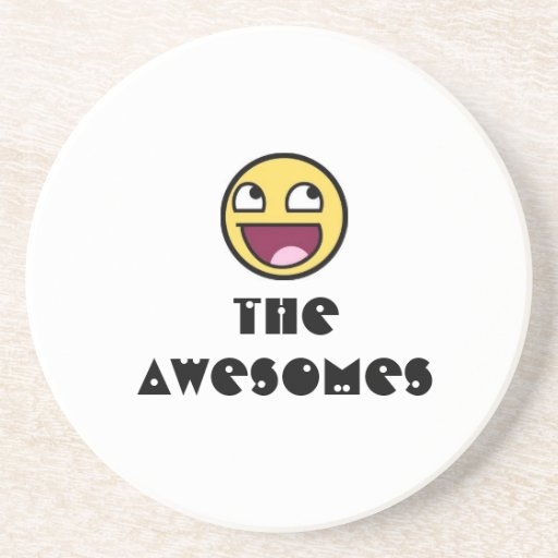 Smiley-Awesome, THE AWESOMES Beverage Coasters