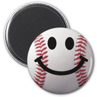 smiley baseball refrigerator magnets