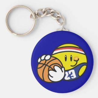 Smiley Basketball Tshirts and Gifts Keychain