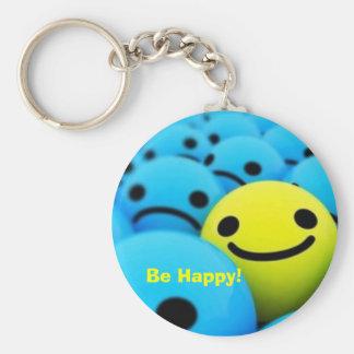 smiley, Be Happy! Key Ring