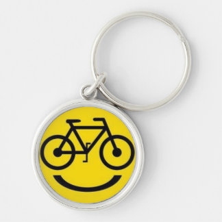 Smiley bike face keychain