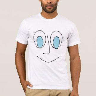 Smiley Blue Eyed Stick Man's Face Design Men's T-Shirt
