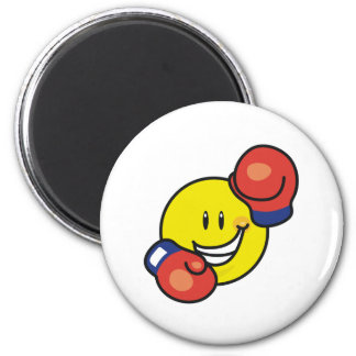 Smiley Boxing Magnet