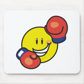 Smiley Boxing Mouse Pads