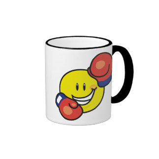 Smiley Boxing Ringer Mug