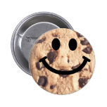 Smiley Chocolate Chip Cookie 6 Cm Round Badge