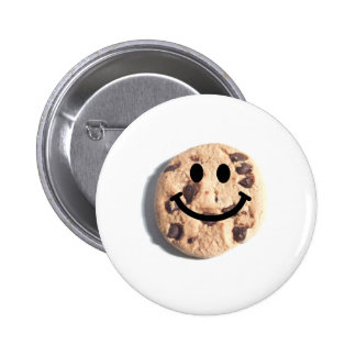 Smiley Chocolate Chip Cookie Pinback Buttons