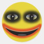 Smiley Clown Round Sticker