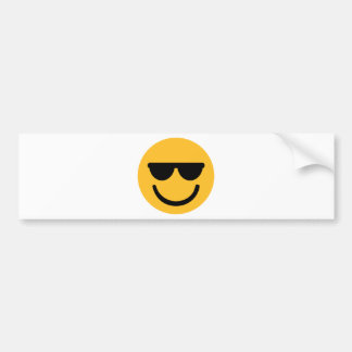 Smiley cool sunglasses bumper sticker