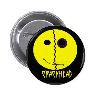 Smiley Crackhead Button