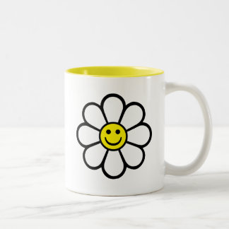 Smiley Daisy Two-Tone Mug