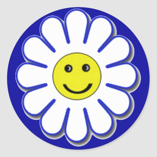 Smiley Daisy Stickers