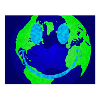Smiley Earth Postcard