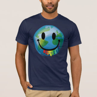 Smiley Earth Rainbow Big Mouth T-Shirt