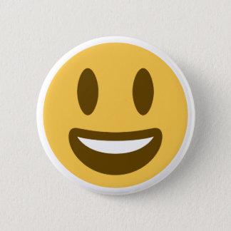 Smiley emoji 6 cm round badge