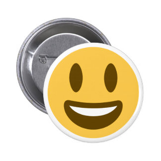 Smiley emoji 6 cm round badge