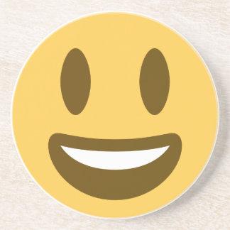Smiley emoji drink coasters
