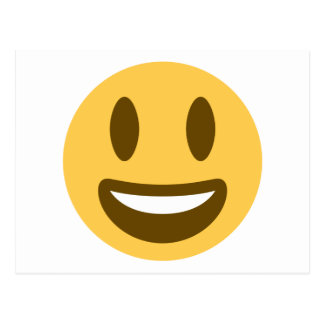 Smiley emoji postcard