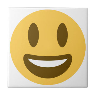 Smiley emoji small square tile