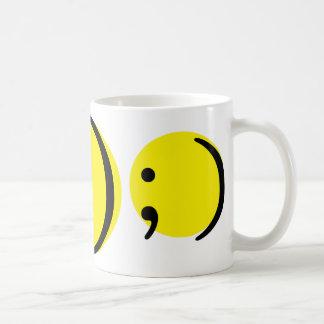 Smiley emotion basic white mug