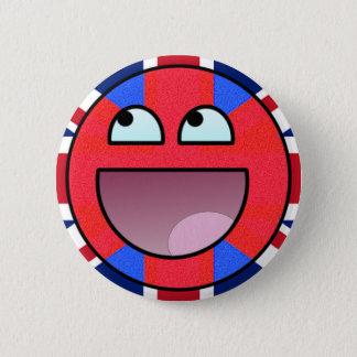 smiley england 6 cm round badge
